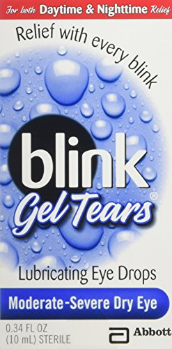 (Blink Gel Tears, Lubricating Eye Drops, Moderate-Severe Dry Eye, 0.34 oz ( Pack of 3 ))