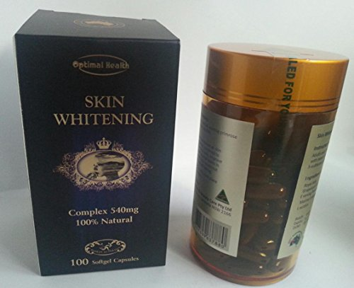 Optimal Health Skin Whitening Complex 540mg 100% Natural 100 capsules Australian Made by Optimal Health Australian Made