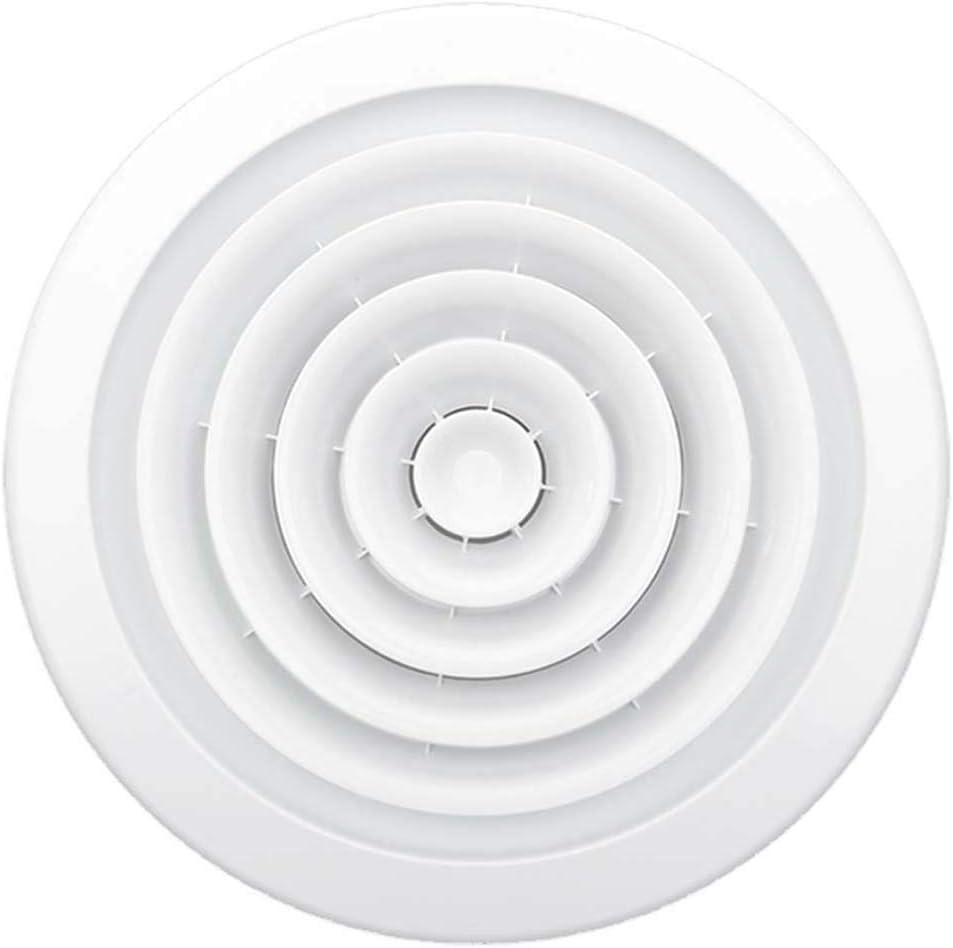 Salida De Ventilaci/ón Y Filtro Rejilla De Ventilaci/ón Redonda Ventilaci/ón Ajustable Ventilaci/ón Ciega De Decorativa Ambientalmente Duradera Rejilla De Ventilaci/ón ABS