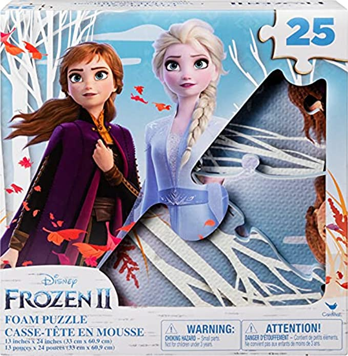 Disney Frozen 2X 25-Piece Jigsaw Puzzle for Families, Kids, and Preschoolers Ages 4 and Up