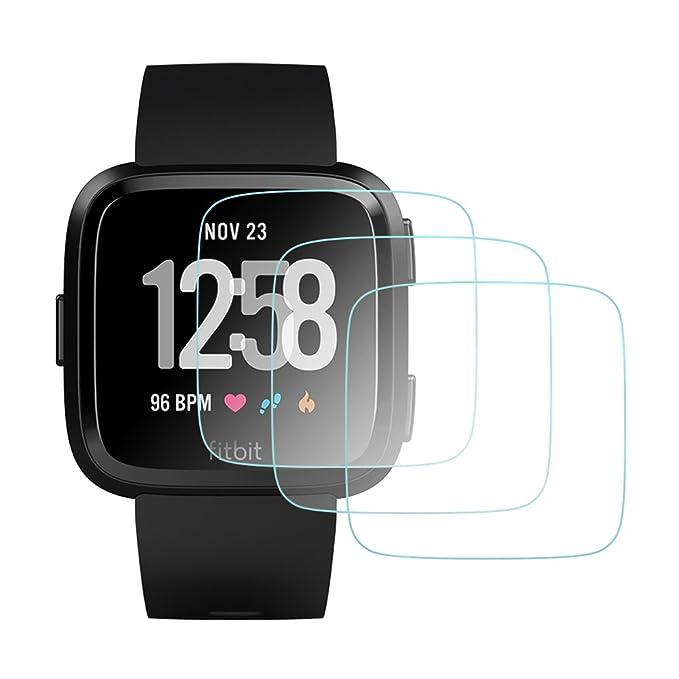 AWINNER - Protector de pantalla de cristal templado para Fitbit Versa Smartwatch (3 unidades)