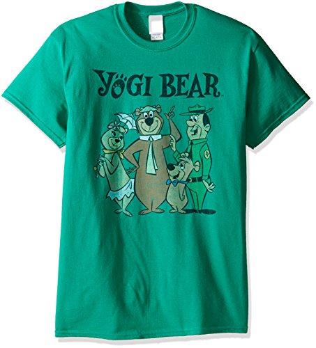 Yogi Bear Men's Gang T-Shirt, Kelly, 2XL