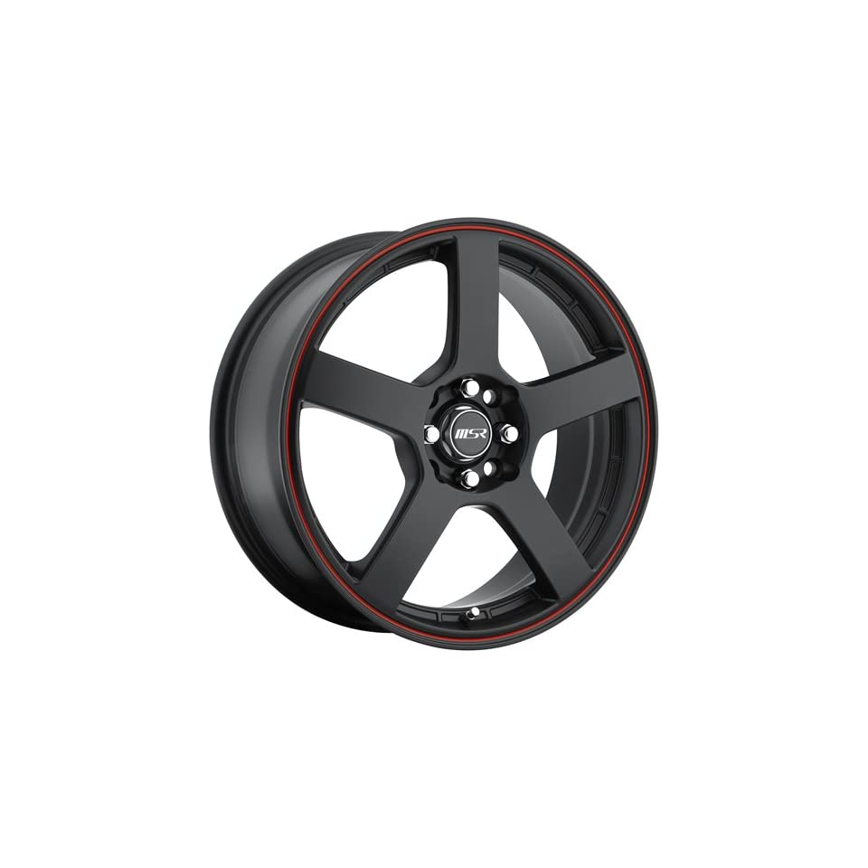 MSR 91 17 Black Red Wheel / Rim 4x100 & 4x4.5 with a 40mm Offset and a 72.64 Hub Bore. Partnumber 9128701
