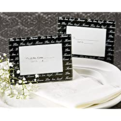 "Artisano Designs ""Live, Love, Laugh. Photo Frame/Place Card Holder, Black, Mini, 4-Pack"