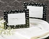 Artisano Designs ''Live, Love, Laugh.'' Photo Frame/Place Card Holder, Black, Mini, 4-Pack
