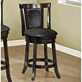 Best Bar Stools - Monarch Specialties Wood High Swivel Counter Stool, 39-Inch Review