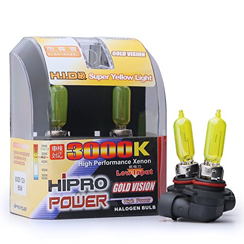 yellow 9005 headlight bulbs - 2