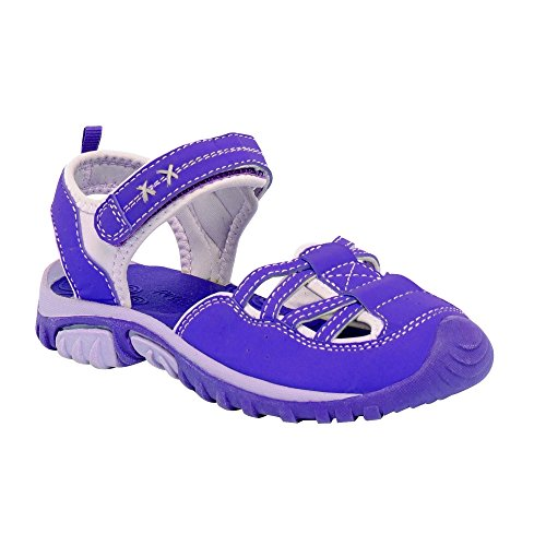 Regatta Girls Boardwalk Junior Walking Sandals RKF406 Pink Purple Heart