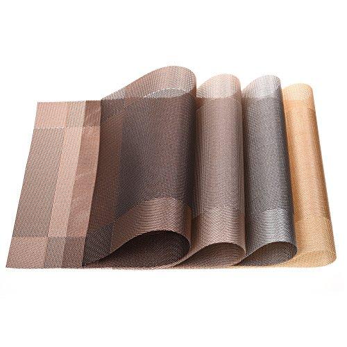 cosmos-4-pcs-different-color-heat-resistant-washable-pvc-non-slip-table-mats-placemats