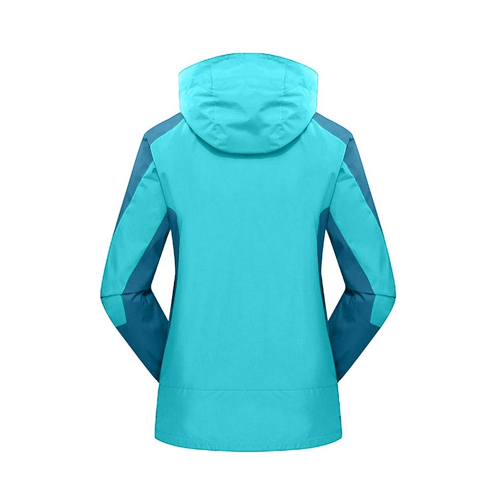 d6e61ba74f Amazon.com  Women s 3-in-1 Winter Ski Jacket Outdoor Waterproof Hiking Rain  Jacket Breathable Sport Hooded Coat Two Piece  Clothing
