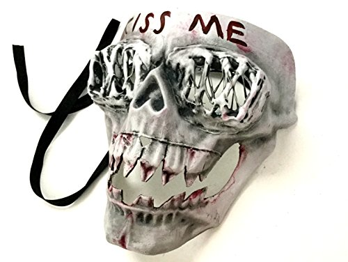 Purge Costumes (The Purge KISSME mask 2016 Election Year Anarchy movie mask horror Killer purge masked men Halloween Costume Party)