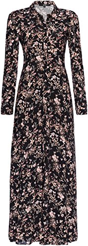 FIND 13609, Vestido Para Mujer Multicolor (Black Mix)