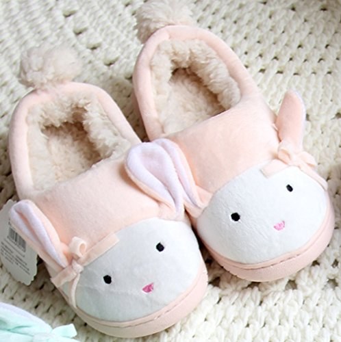 Cattior Womens Cute Warm Bunny Slippers House Shoes Orange LvgUFNt5zE