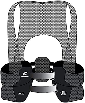 Various Sizes Champro Air Tech Black Rib Vest w// Dual-Density Foam Pads FR3V