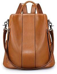 Women Soft Leather Backpack Antitheft Rucksack Ladies Shoulder Bag Medium