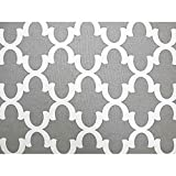 Fynn Full Size Futon Cover, 54 Inch x 75 Inch - Proudly Made in USA, Contemporary Gray & White Design (Available in Full, Queen, Twin and Other Sizes)