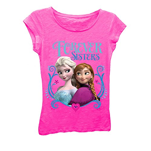Disney Frozen-Forever Sisters Tee (Kid) - Hot Pink-5/6 ()