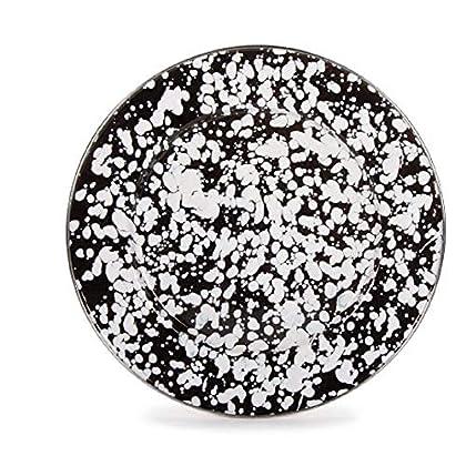 Image of 10.5 Inch Black Swirl Dinner Plate, Set of 4. Dinner Plates