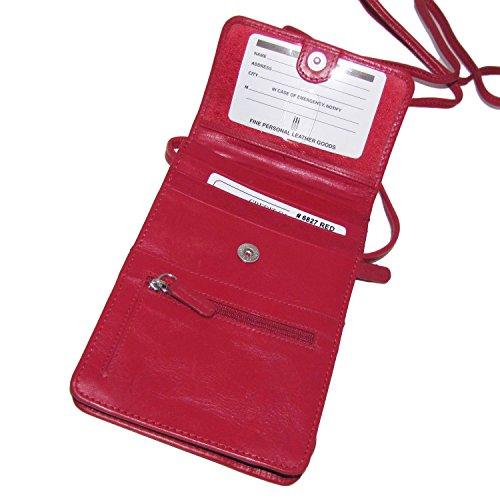 Crossbody Lining Amethyst 6827 Organizer with ili Leather Blocking RFID York New 4IwnqxfS
