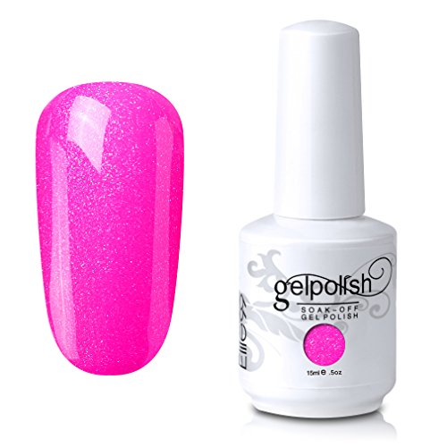 Elite99 Soak-Off UV LED Gel Polish Nail Art Manicure Lacquer Pearl Hot Pink 252 ()