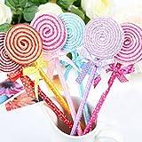 Lollipop Ballpoint Pen Novelty Kids Toys Cute School Stationery Gife(Pack of 5: random color)