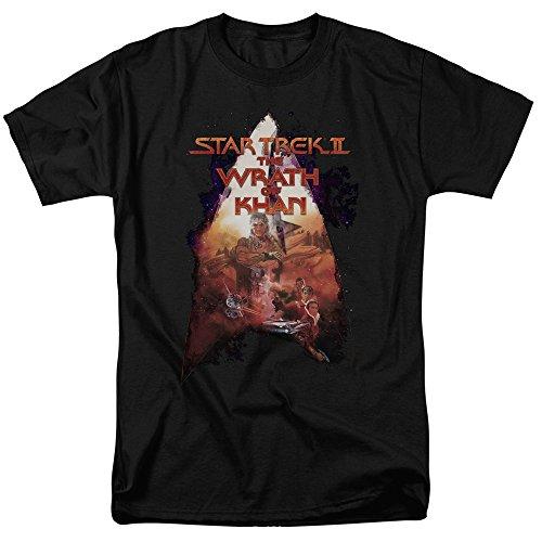 Trevco Men's Star Trek Short Sleeve T-Shirt, Twok Black, (Twok Star)