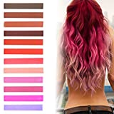 Bleaching Hair Hot - Best DIY Kendall Hot Pink Ombre Hair Dye Set of 12 | Strawberry Blonde Ombre Hair | ROSE TINT Vibrant Hair Dye | with Shades of Rose Tint | Brown, Brick, Red, Raspberry, Pink and Lilac Set of 12 Vibrant Hair Chalk | Color your Hair Red Pink Ombre in seconds with temporary HairChalk