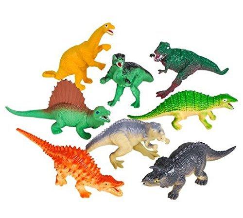 Vinyl Colored Dinosaur Toys - 12 Pack 5-7