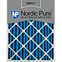Nordic Pure 16x25x2M7-3 MERV 7 Pleated AC Furnace Air Filter, 16x25x2, Box of 3