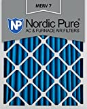 Nordic Pure 12x20x2M7-3 MERV 7 Pleated AC Furnace Air Filter, 12x20x2, Box of 3
