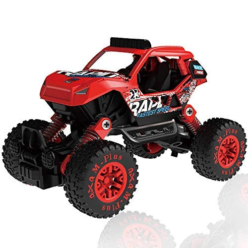 (CORPER TOYS Pull Back 4WD Off Road Vehicle 1:32 Scale Pull Back Rock Crawler Monster Truck High Speed Racing Car for Kids Children)