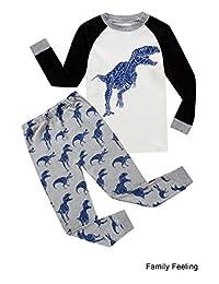 ChocoMoon Boys Pajamas Shorts Dinosaur Sleepwear