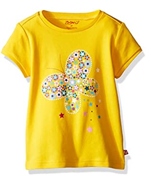Toddler Girls' Fitted Cap Sleeve Tee
