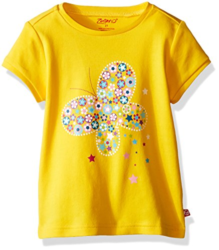 Zutano Toddler Girls' Screen Fitted Cap Sleeve Tee, Butterfly, 2T