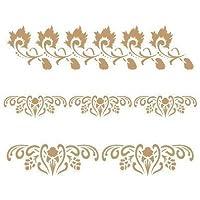 TODO STENCIL Deco Cenefa 055 Tres Florales, Medidas: