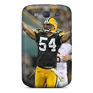 Bumper Hard Cell-phone Case For Samsung Galaxy S3 With Allow Personal Design Realistic Green Bay Packers Series AnnaDubois