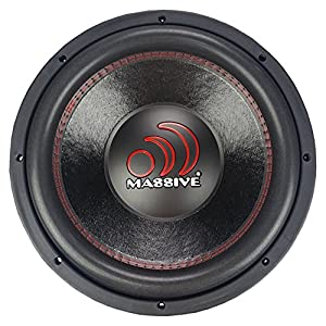 Massive Audio GTX124 12in Subwoofer - GTX Series 1400 Watt Subwoofer that Works Great as Competition Subwoofer! Dual 4 Ohm, 2.5 inch Voice Coil. Sold Individually.