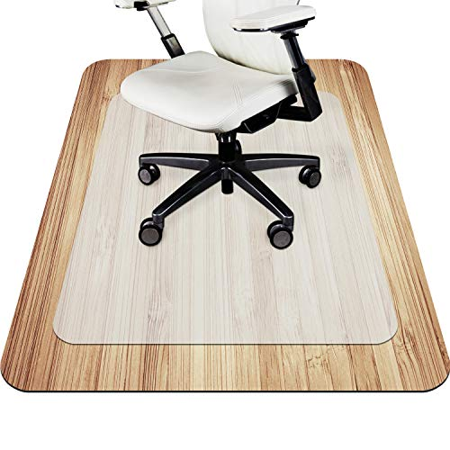 VPCOK Office Chair Mat for Carpet, Office Essential Chairmat, Protector for Office Desk Chair Mats for Carpeted Floors, Translucence, Unique Texture Design, Perfect Non-Slip Effect
