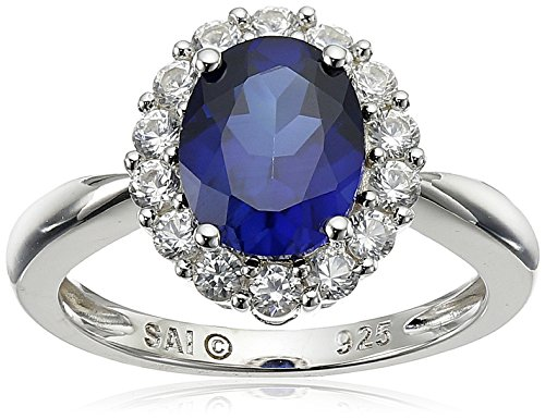 Sterling-Silver-Created-Blue-Sapphire-and-Created-White-Sapphire-Ring