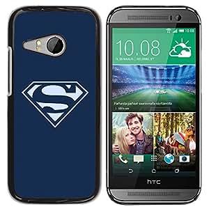HTC ONE MINI 2 / M8 MINI , Radio-Star - Cáscara Funda Case Caso De Plástico (Superhero Logo S)