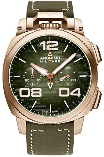 Anonimo Militare Mens Analog Automatic Watch with Leather Bracelet AM112301002A05