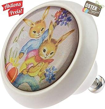 ceramic knob 05748w easter rabbit bunny vintage style ceramic