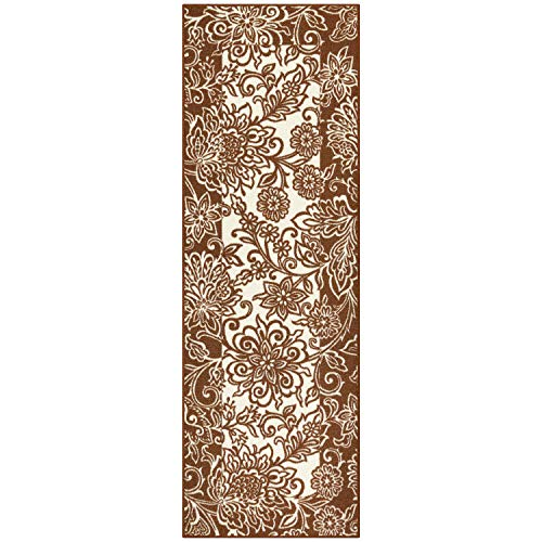 - Maples Rugs Runner Rug - Adeline 2 x 6 Non Skid Hallway Entry Rugs Runners [Made in USA] for Kitchen and Entryway, Auburn