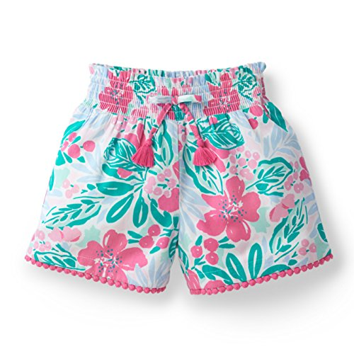 Floral Smocked Short Made with Organic Cotton ()