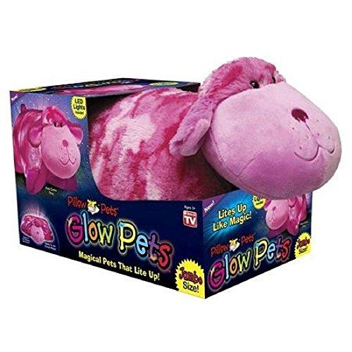 Pillow Pets Glow Pets Pink Camo Dog Jumbo 18