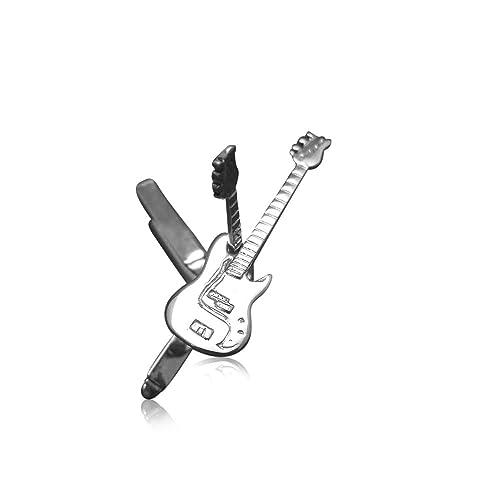 Para hombre plata de ley Fender Precision Bass guitarra eléctrica gemelos: Guitar-Necklace: Amazon.es: Joyería