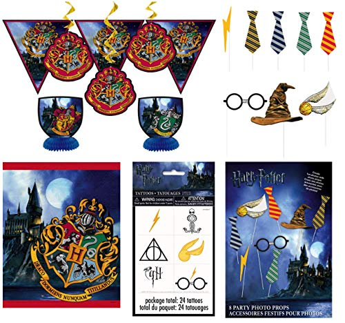 Unique Harry Potter Birthday Party Favors and Supplies | Decorating Kit, Photo Booth Props, Tattoos and Loot Bags -