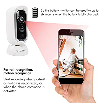Wireless Rechargeable Battery Powered Camera,WiFi Security Camera, Home Security System, Night Vision,Indoor Outdoor,HD1080P Video with Motion Detection,2-Way Audio Talk WiFi Camera,Waterproof,SD Slot