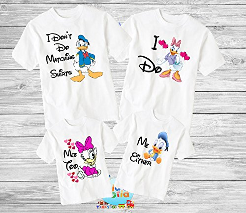 I Don't Do Matching Shirts I Do Disney, I Don't Do Disney family shirts, I don't do matching shirts kids, Funny family tshirts Disney -