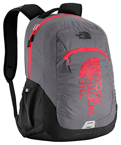 The North Face Kids Haystack Backpack Zinc Grey Fiery Red Select Size